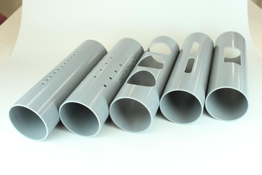 塩ビ管の穴加工 / 穴あきPVCパイプ / 有孔管・ストレーナー特注品 ...